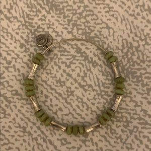 Alex and Ani Silver and Sage Green Bracelet